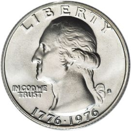 The workhorse of American coinage — 1976 Washington Quarter