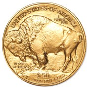 1 oz. Gold American Buffalo Coin, View of Back