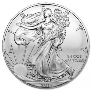 1 oz. Silver American Eagle Coin, View of Front