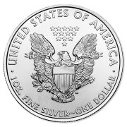 1 oz. Fine Silver American Eagle Coin, View of Back
