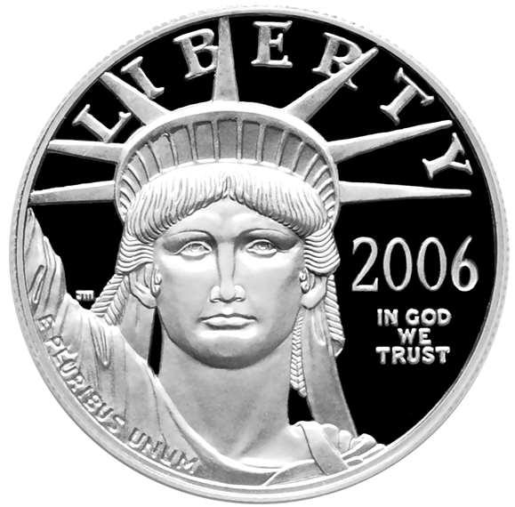 Platinum Liberty Quarter, 2006