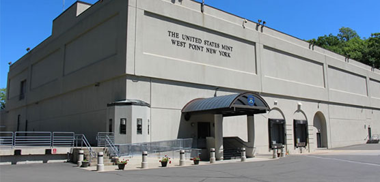 Exterior view of the U.S. Mint at West Point in New York