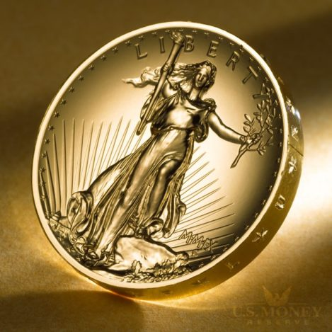 Ultra-High Relief Gold Coin