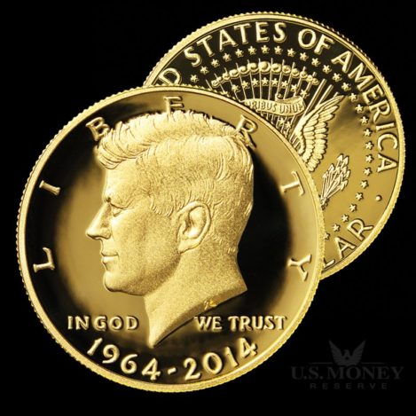 John F. Kennedy 24K Gold Half-Dollar