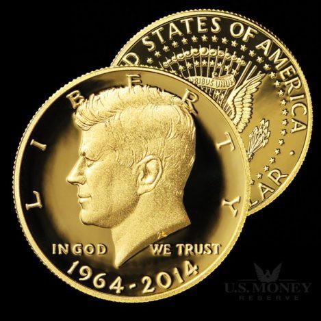 John F. Kennedy 24K Gold Half-Dollar