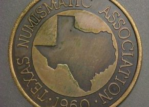 Seal of the Texas Numismatic Association, Founded in 1960