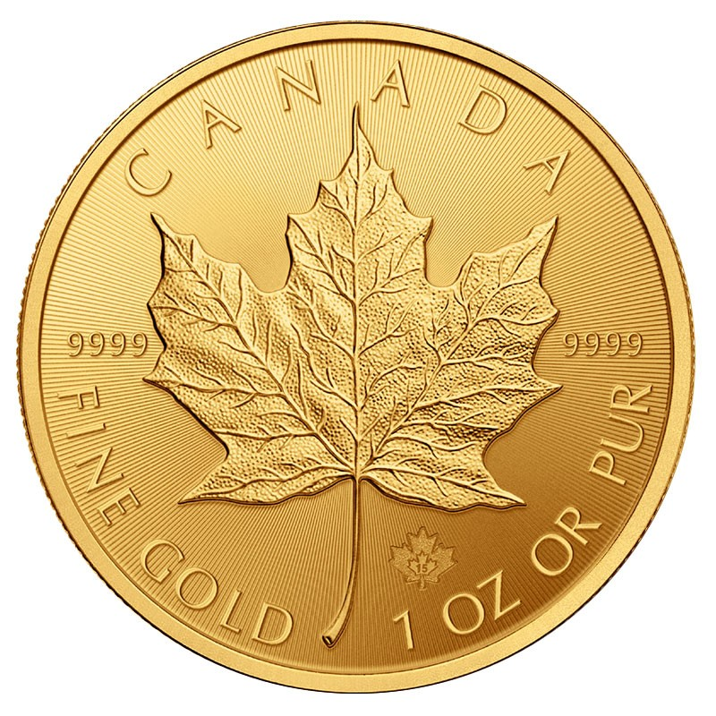 1 oz. Gold Canadian Maple Leaf Coin