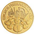 gold austrailian philharmonic coin front