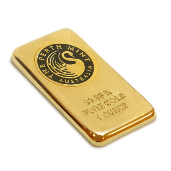 1 oz. Pure Gold Bar, Perth Mint