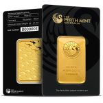 perth mint 1 oz gold bar in assay