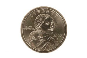 2007 Sacajawea one dollar coin