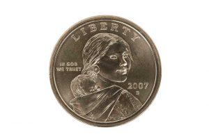 2007 Sacajawea one dollar coin