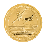 A unique 24-karat Pearl Harbor gold bullion coin, authorized as official legal tender and exclusive to U.S. Money Reserve