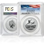 Pearl Harbor SILVER coin certified MS70