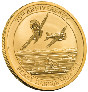 75th Anniversary Pearl Harbor Gold Coin questions and answers