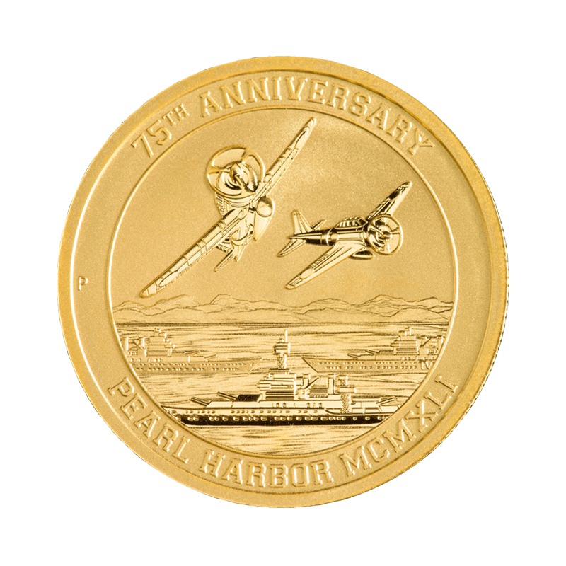 1 10 Oz Pearl Harbor Gold Coin Buy Exclusive Gold Bullion