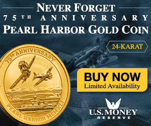 Never Forget 75th anniversary Pearl Harbor Gold Coin. 24-KARAT. Buy Now! Limited Availability