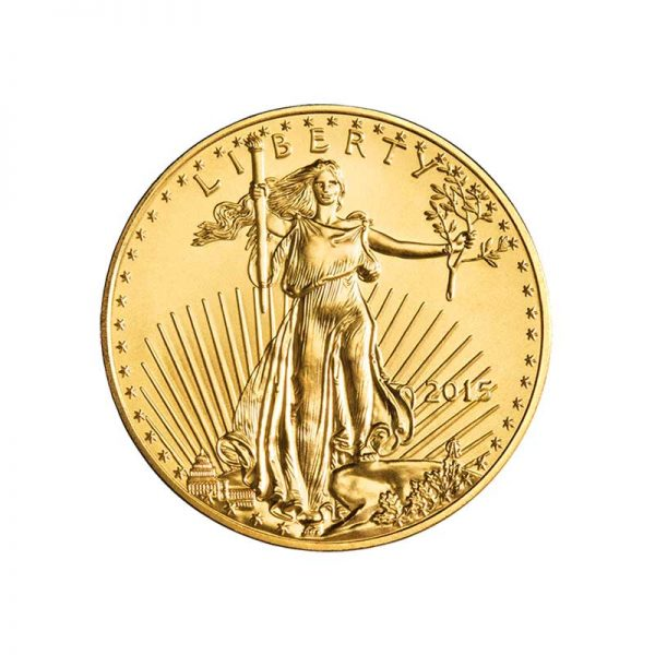 1/10 ounce Gold American Eagle Coin - Front