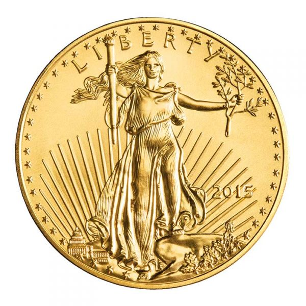 2017 Gold American Eagle Coin Front 1 2 Oz