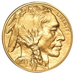 2011 Gold American Buffalo coin front