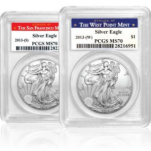 1 oz. Mint State Silver American Eagle Coin