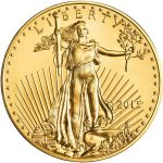 Gold American Eagle Coin, front