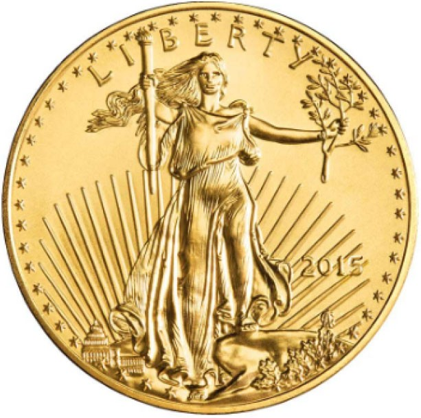 2015 Gold American Eagle front