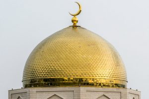 Top of mosque, gold dome