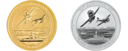 Pearl Harbor Gold and silver Coin