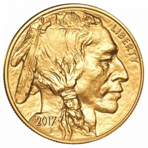2017 Gold American Buffalo coin front