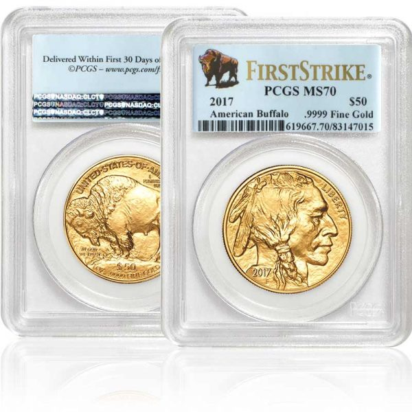 2017 1 oz. Proof Gold American Buffalo Coin MS70 in case