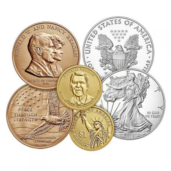 assortment of 6 precious metal coins