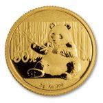 front of Gold China Panda Coin
