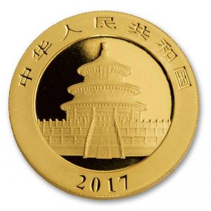 back of China Panda Gold Coin