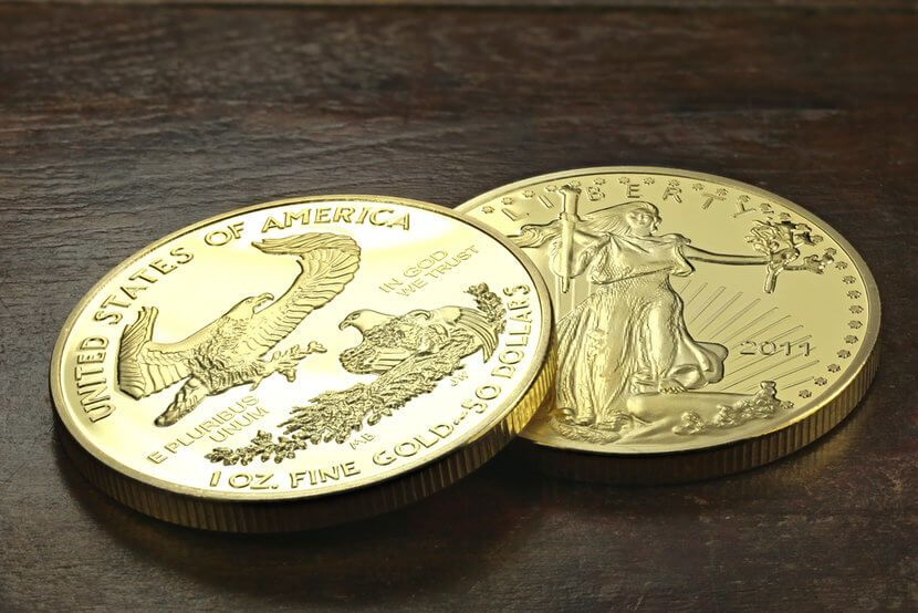 Reverse and obverse design of Gold American Eagle Coin