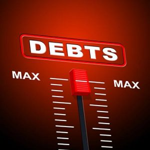 Bar with Debt set to max