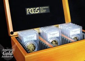 PCGS box of graded coins
