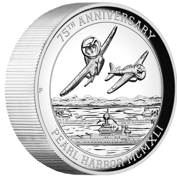 5 oz. pearl harbor silver coin