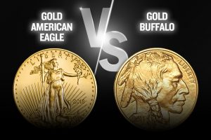 Gold American Eagle vs Gold Buffalo Coin