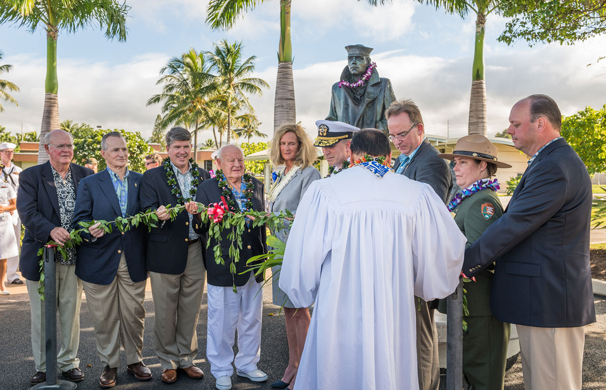 Lone Sailor dedication ceremony at Pearl Harbor in Hawaii