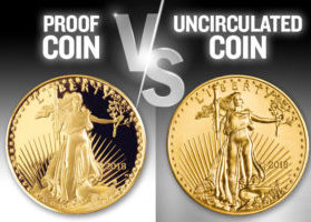 Proof Gold Eagle Coin vs Uncirculated Gold Eagle Coin
