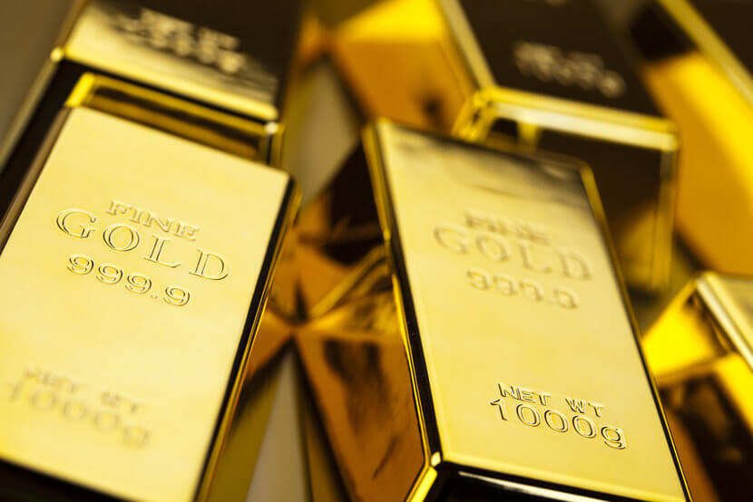 Stacks of shimmering gold bars