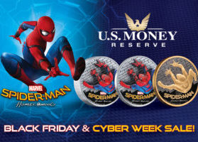 Black Friday and Cyber Week Sale on Spider-Man Gold and Silver Coins!