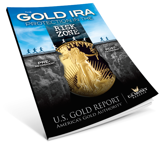 gold ira book with image of people crossing gold coin bridge