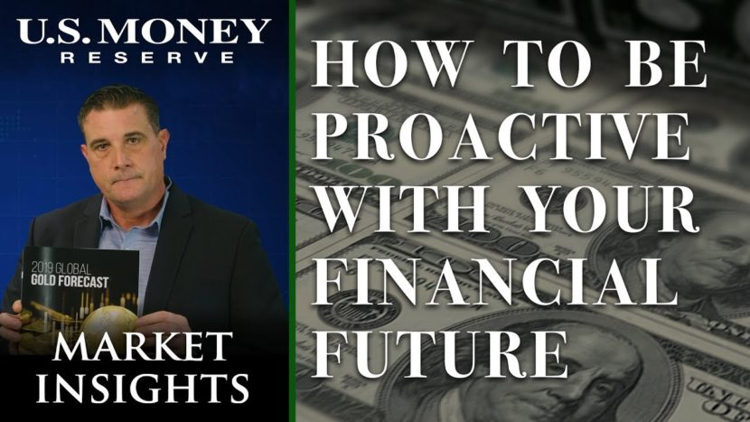 coy wells presenting how to be proactive with your financial future referring to dollar bills and buying gold instead