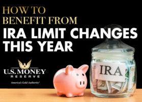 piggy bank next to ira savings jar filled with money