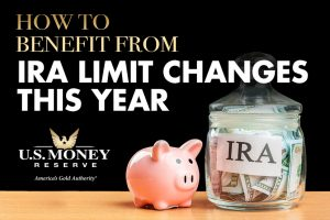 piggy bank next to ira savings jar filled with money