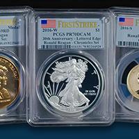 2016 Ronald Reagan Coin & Chronicles Set (PCGS First Strike)