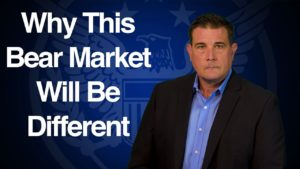 "Blue image with text that reads ""Why this bear market will be different"" presented by Coy Wells"
