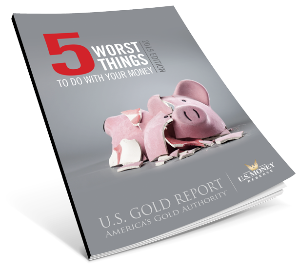 5 worst things to do with your money brochure with shattered pink piggy bank
